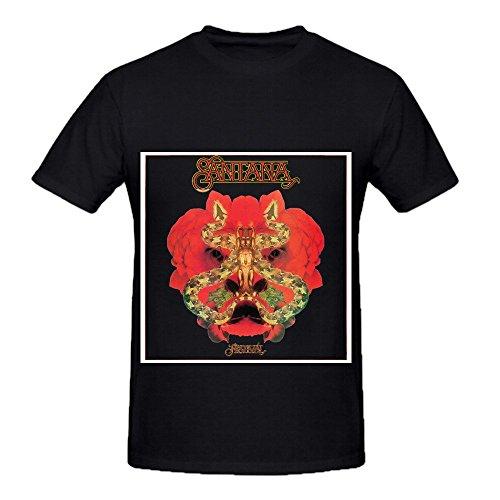[Santana Festivl Tour Greatest Hits Mens O Neck Slim Fit Tee Shirts Black] (Barack Obama Face Mask)