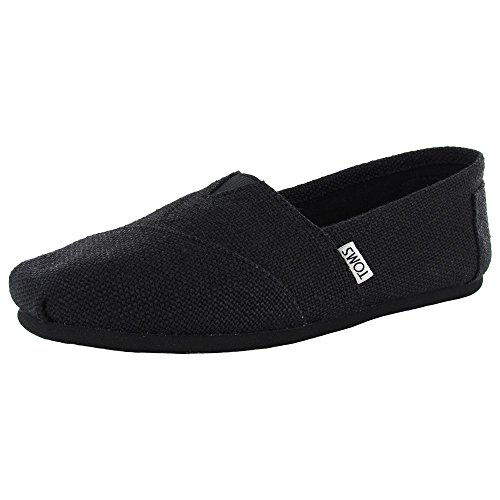 Toms Womens Classic Burlap Slip-On, Black, size 8.5 (Classic Toms compare prices)