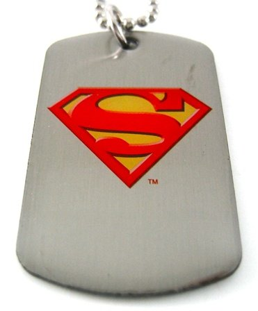 Superman Shield Dog Tag & Chain Necklace