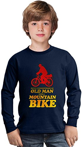 never-underestimate-an-old-man-with-a-mountain-bike-amazing-kids-long-sleeved-shirt-by-true-fans-app