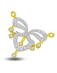 Surat Diamond 18K Yellow Gold Diamond Pendant - B00NGR7372