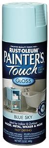Rust-Oleum 1924830 Painter's Touch Spray, Gloss Blue Sky, 12-Ounce