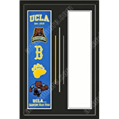 UCLA Bruins & Your Choice of other Team Heritage Banner Framed-House... by Art and More, Davenport, IA