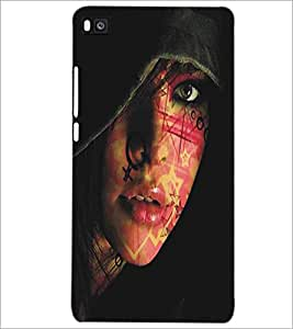 HUAWEI P8 BEAUTIFUL GIRL Designer Back Cover Case By PRINTSWAG