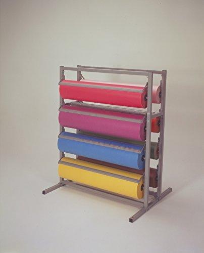 """48"""" Width Twin Tower 8 Roll Paper/ Gift Wrap Dispenser - Bulman T375-48"""