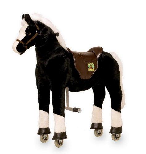 gro es xxl standpferd liana mit sattel braun pferd stehpferd reitpferd reiten knorrtoys. Black Bedroom Furniture Sets. Home Design Ideas