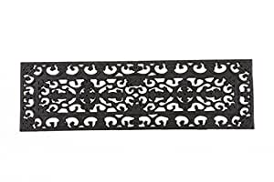 Entryways Fleur Di Lys Stair Tread Recycled Rubber Doormat, 9-Inch by 30-Inch (Discontinued by Manufacturer)