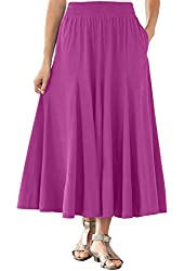 Women's Plus Size Skirt In Soft Knit, Pretty Colors