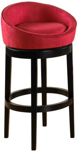 "Igloo Microfiber 30"" High Swivel Red Bar Stool"
