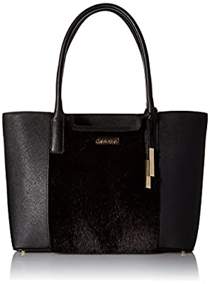 Calvin Klein Key Items Saffiano/Fur Tote