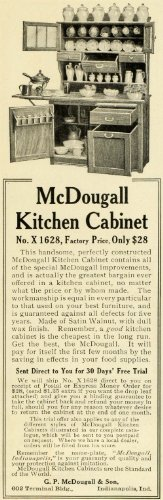 1906 Ad G. P. McDougall's Kitchen Cabinets Cupboards