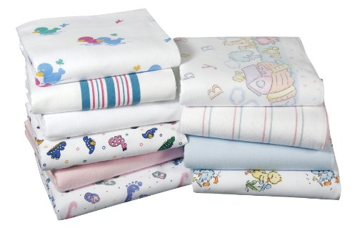 Kuddle-Up Flannel Baby Blankets (36X36, Candystripe) front-1081263