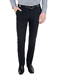Only Vimal Men's Black Slim Fit Cotton Chinos - B01H1X91I0