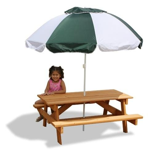 Kids picnic table umbrella rainwear - Children s picnic table with umbrella ...