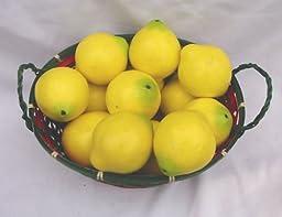 12 Piece Lemons Decorative Fruit