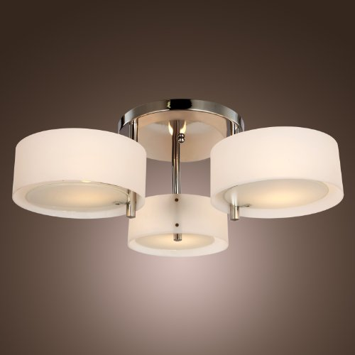 Lightinthebox Acrylic Chandelier With 3 Lights (Chrome Finish) front-983328