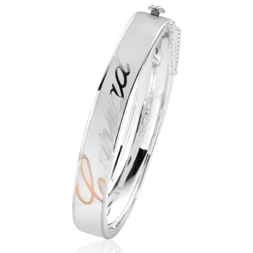 Clogau Gold Sterling Silver White Club Bangle
