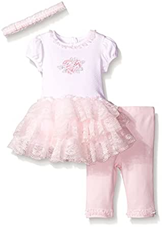 Amazon Little Me Baby Girls Rose Whimsy Dress with