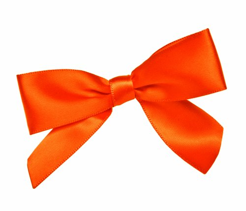 CK Products Orange Bow Twist Tie, Package of 100