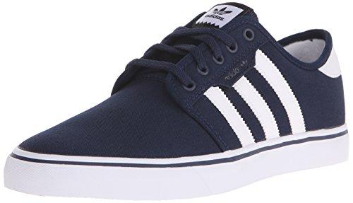 adidas Originals Men's Seeley Skate Shoe,Collegiate Navy/White/Black,9 M US (Adidas Shoes Men Blue compare prices)