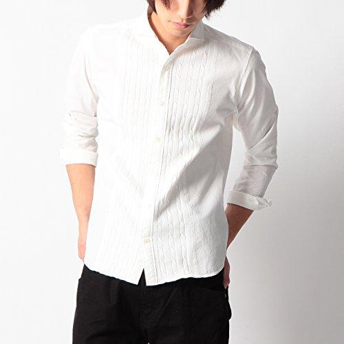 (ボイコット)BOYCOTT ケーブルニット切り替えシャツ ホワイト(001) 04(LL)