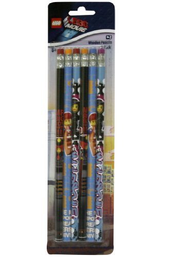 The Lego Movie 6 Pack of Wooden Pencils - Lgo6716