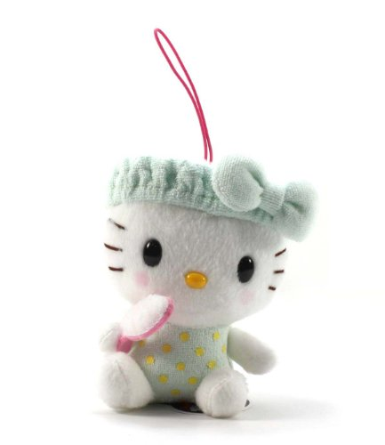"Eikoh Hello Kitty Fresh Bath Time Plush Strap - 5"" Green Brush"