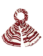 Indigo Collection Lightweight Aztec Striped Scarf