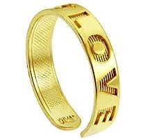 "buy 10K Gold ""Love"" Engraved Toe Ring"