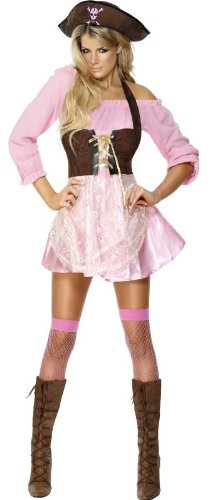 Sexy Glamorous Pink Pirate Costume for Women