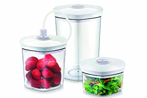 CASO Germany Vacuum Sealer Canister, Set of 3 by CASO Germany