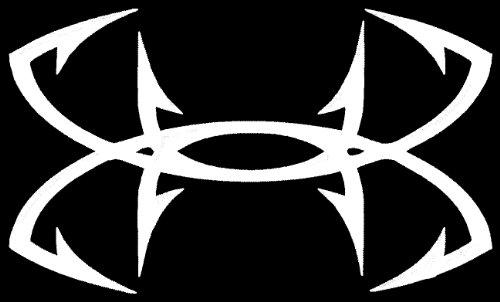 large under armour fish hook vinyl decal sticker for car truck suv boat trailer 788679093010. Black Bedroom Furniture Sets. Home Design Ideas