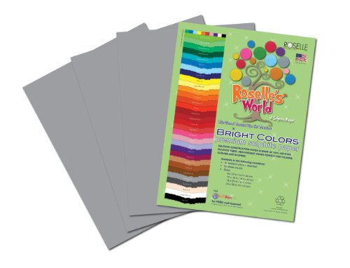 Roselle Bright Colors Suphite Construction Paper, 9 x 12 Inches, Pearl Gray, 50 Sheets Per Package (74401) - 1