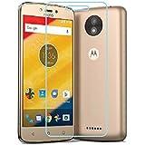 Motorola Moto C Plus, Tempered Glass , Premium Real 2.5D 9H Anti-Fingerprints & Oil Stains Coating Hardness Screen Protector Guard