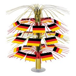 Beistle 57368 German Flag Cascade Centerpiece, 18-Inch