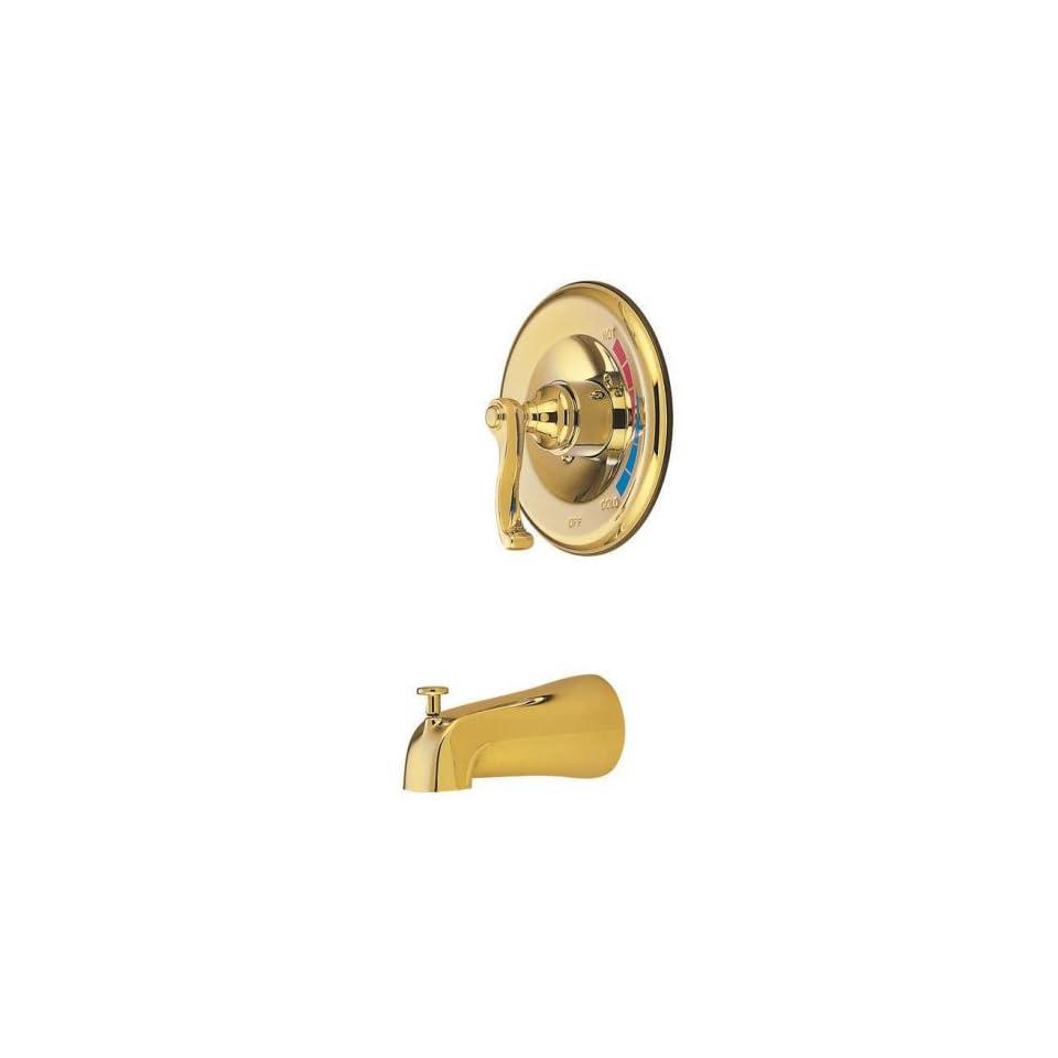 Elements of Design EB8632FLTO Atlanta Single Handle Tub Faucet, Polished Brass