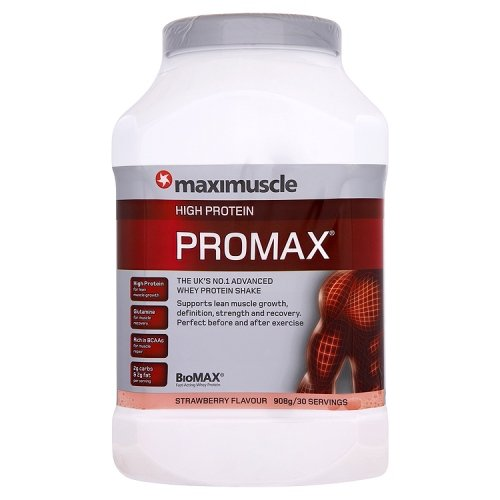 Maximuscle Promax 908 g Strawberry Whey Protein Shake Powder