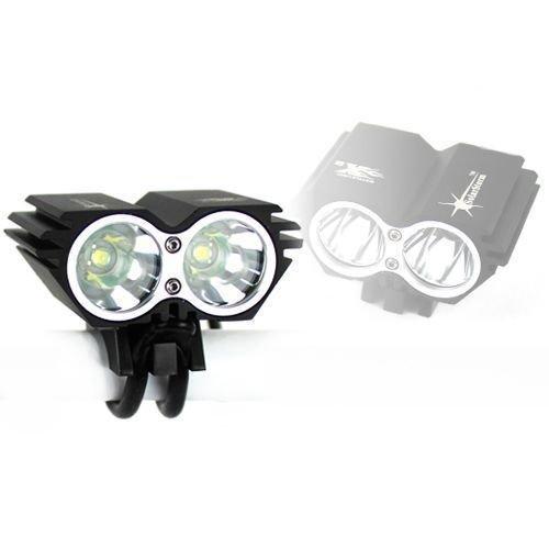 Gugou Solarstorm 5000Lm Waterproof 2Xcree Xml U2 Led Bicycle Headlight Headlamp Black