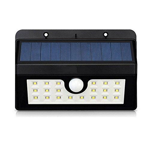 Giardino Luce Solare, emwel LED ad energia solare Wireless con Sensore di movimento corpo induzione lampada per giardino ed esterni, recinzione, cortili, verande, cortile, casa, il vialetto d' accesso, scale, fuori muro ecc.