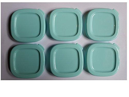 Seb Yaourtière Square Yoghurt Pots with Lids Set of 6Blue