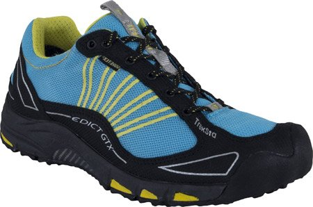 TrekSta Women's Edict GTX Trail Running Shoes - Teal/Yellow 8.5