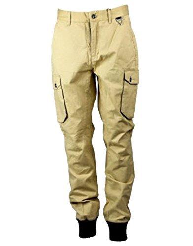 Eleven Paris Uomo PILOTA Pantaloni Beige (EPJN007b)