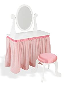 KidKraft Pink My Sweet Princess Vanity and Stool Set | 13017