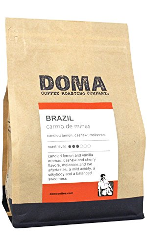 "Doma Coffee ""Brazil Carmo De Minas"" Medium Roasted Whole Bean Coffee - 12 Ounce Bag"