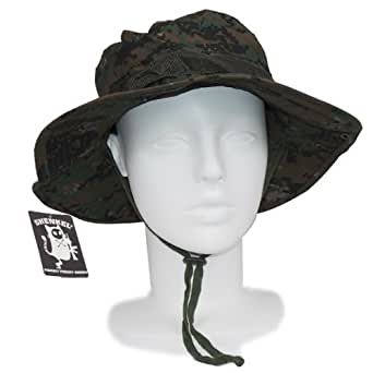 Amazon.com: SHENKEL pixel green two-boo hat jungle camouflage hat one