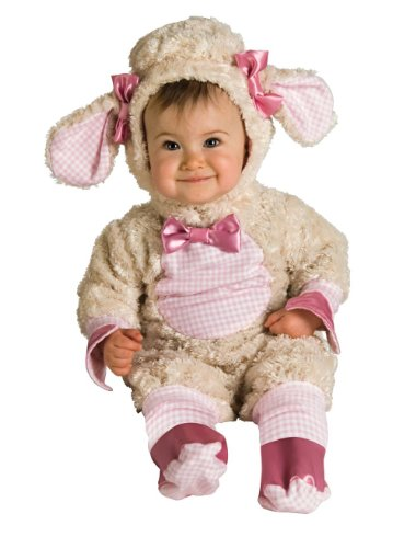 [In Fashion Kids Baby-Girls Baby Lamb Costume - Pink (12-18 months with Bracelet for Mom)] (Baby Lamb Halloween Costumes)