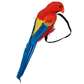 Jolly Roger Pirate Feather Wrist Parrot Bird Fancy Dress Halloween Accessory New