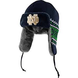 NCAA Notre Dame Fighting Irish Team Trapper Knit (Navy/Vegas Gold, OSFA)
