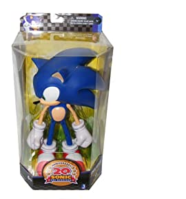 Sonic the Hedgehog 20th Anniversary Deluxe 10 inch Modern 2011 Vinyl Collectors Figure by Jazwares