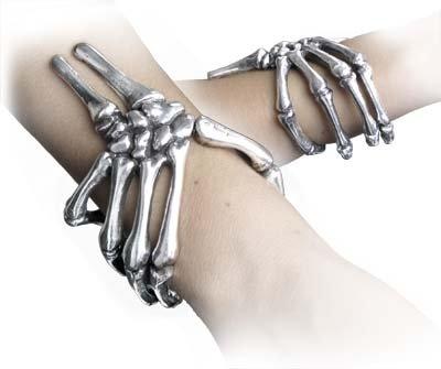 Alchemy Gothic Gothic Curse of Ezekiel Skeleton Hand Bracelet